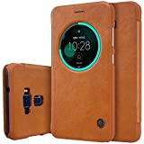 Nillkin Qin Circle Smart Window & Sleep Function Leather Flip Cover Case For Asus Zenfone 3 ( Ze552Kl ) ( 5.5 Inch Display ) - Brown
