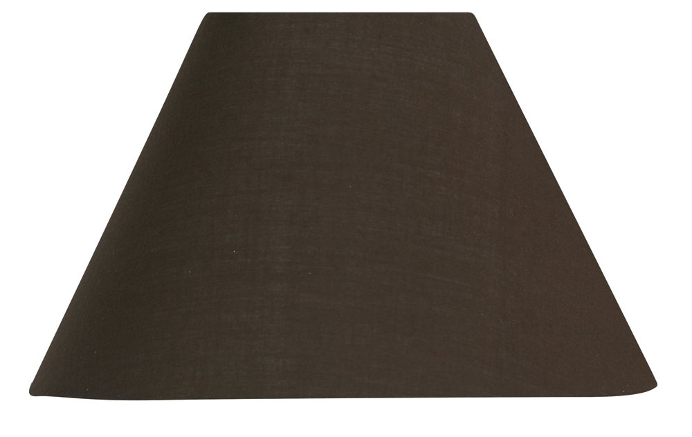 Oaks Lighting Coolie Abat-jour en coton Chocolat S501/10 CO