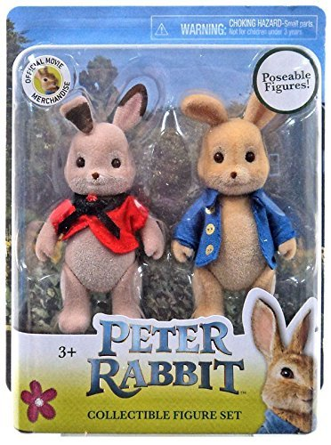 Rabbit Garden Peter (Peter Rabbit Movie~2 Pack Collectible Figure Set Poseable Figures Peter Rabbit and Flopsy)