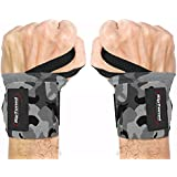 """Rip Toned Wrist Wraps by 18"""" Professional Grade With Thumb Loops - Wrist Support Braces for Men & Women - Weight Lifting, Xfit, Powerlifting, Strength Training - Bonus Ebook"""