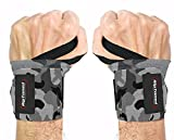 Wrist Wraps by Rip Toned (Gray Camo-Less Stiff)