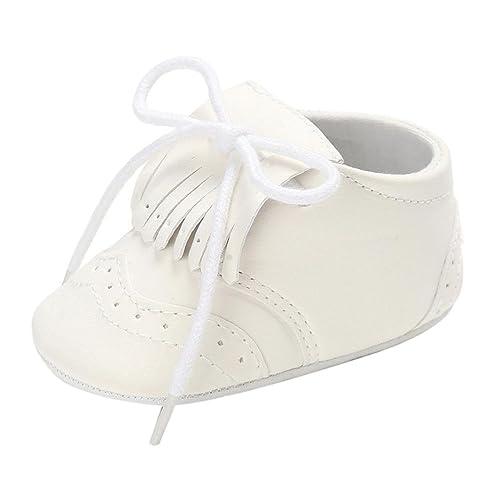 706f0a3fe76 Zapatos de bebé para bebés Botas para niños Chicas Chicos Borla Suela Blanda  Antideslizante Lona Zapatos de Cuna Zapatillas LMMVP  Amazon.es  Zapatos y  ...