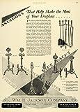 47 fireplace - 1928 Ad Fireplace Magicoal Grates Firesets Screens Home Decor William H Jackson - Original Print Ad