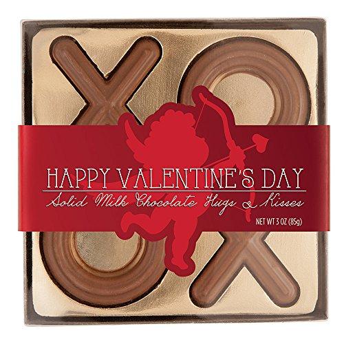 (Valentines Day Sollid Milk Chocolate Hugs & Kisses Gift Box Set 3oz)