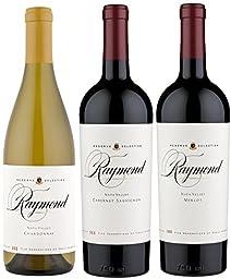 Raymond Vineyards Reserve Selection Wine Mixed Pack, 3 X 750mL