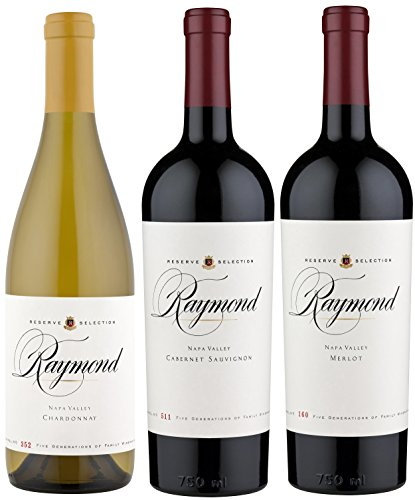 Raymond Vineyards Reserve Selection Wine Mixed Pack, 3 X 750mL