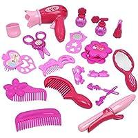 Kids Play Sets Children Makeup Tool Set Girls Toys Pretend Play Including Hair Dryer Comb Curler Scissors Mirror kit Top…