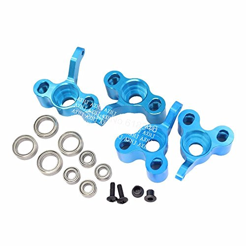 AXHJ HSP 122211 122212 Aluminum Front Steering Knuckles Rear Hub Carrier Upgrade Kit For Redcat Volcano S30 Nitro Monster Truck