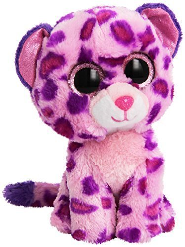 Ty Beanie Boo-Peluche con diseño de estampado de leopardo by Glamour Ty rosa