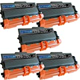 5 New Remanufactured TN750 Brother TN-750 Toner Cartridge, Office Central