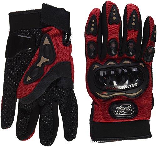 Gloves - SODIAL(R) Pair of red gloves full finger Protection XXL motorcycle bike Sport for men women