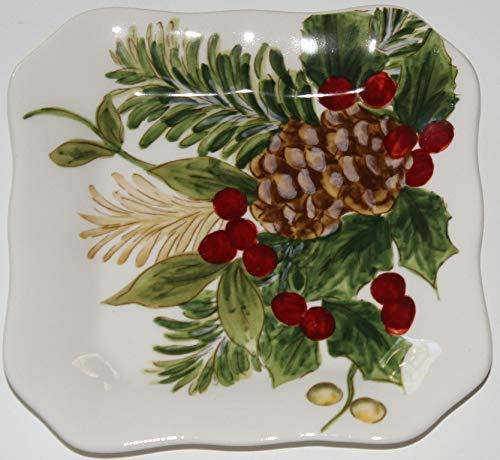 "Maxcera Pinecone 5"" Dessert/Appetizer/Canape Plates - Set of 4"