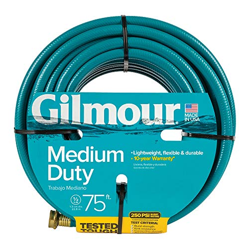(Gilmour 15 Series 4 Ply Reinforced Vinyl Hose 1/2 Inch x 75 Feet 15012075 Green)