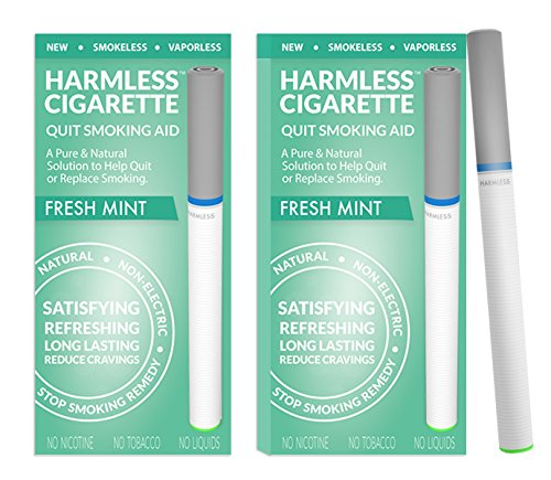 Harmless Cigarette/Quit Smoking Aid/Stop Smoking Remedy/Helps Reduce Cravings/Satisfying & Effective (2 Pack, Fresh Mint)