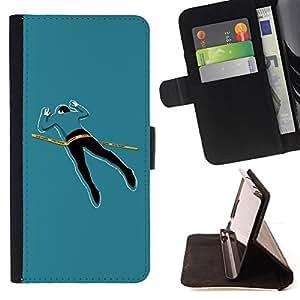 BullDog Case - FOR/Samsung Galaxy S4 Mini i9190 / - / cool funny crime scene body /- Monedero de cuero de la PU Llevar cubierta de la caja con el ID Credit Card Slots Flip funda de cuer