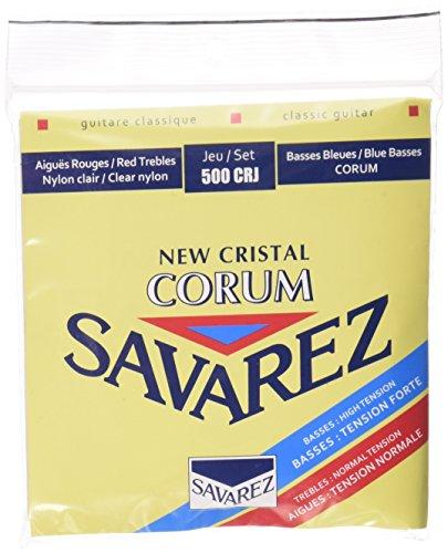 Savarez 500CRJ Corum Cristal Classical Guitar Strings, High Tension, Red/Blue Card