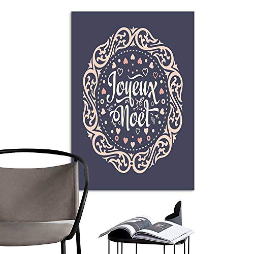 UHOO Linen Art Prints PicturesWinter Background Christmas Card Joyeux Noel 5.jpg Wall Art for Bedroom Living Room 20