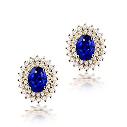 Diamond Sapphire Earrings For Women