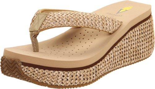 (Volatile Women's Island Thong Sandal,Natural,11 B)