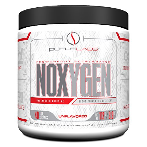Purus Labs Noxygen Preworkout Accelerator, Unflavored, 40 Servings, 3.9 Oz by Purus Labs