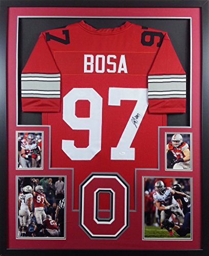 Joey Bosa Framed Jersey Signed JSA COA Autographed Ohio State Chargers