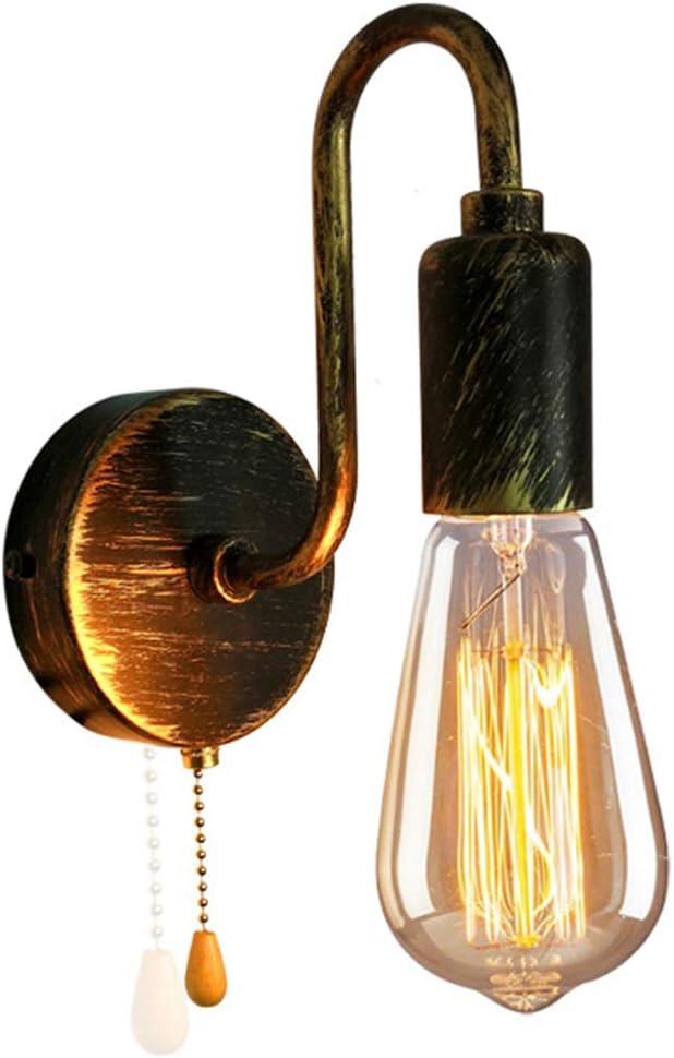 Industrielle Wandlampe E27 Edison Gl/ühbirnen Wandleuchten f/ür Schlafzimmer Flur Wohnzimmer Horevo Verstellbare Wandstrahler mit Schwenkarm Vintage Wandleuchte