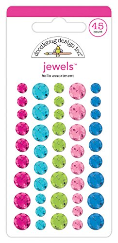 Doodlebug Sprinkles Jewels Adhesive Hello Collection