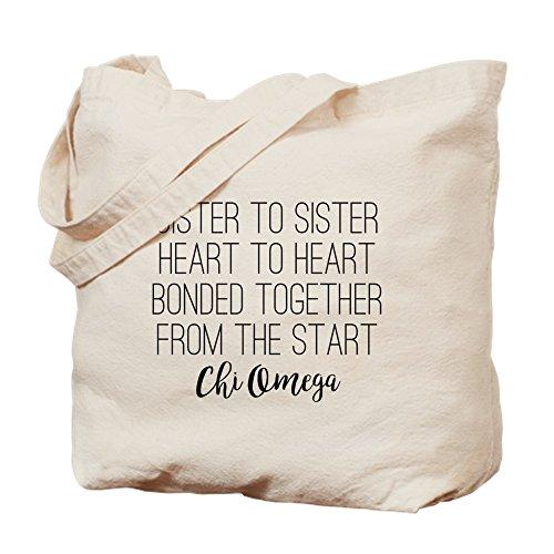 CafePress–Chi Omega hermana a hermana–Gamuza de bolsa de lona bolsa, bolsa de la compra