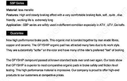 Rear KYN for Suzuki GSX 1300 R//RK//RZK Hayabusa 1999 2000 2001 2002 2003 2004 2005 2006 2007 GSX1300 GSX1300R Motorcycle Front Rear Brake Pads Organic Disc