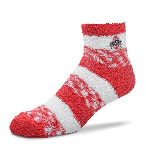 - For Bare Feet NCAA RMC Pro Stripe Fuzzy Sleep Soft Sock -Ohio State Buckeyes-Size-Medium