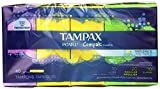Tampax Pearl Compak Plastic Tampons, Multipack (Light/Regular/Super), Unscented, 40 Count - Pack of 2 (80 Total Count)