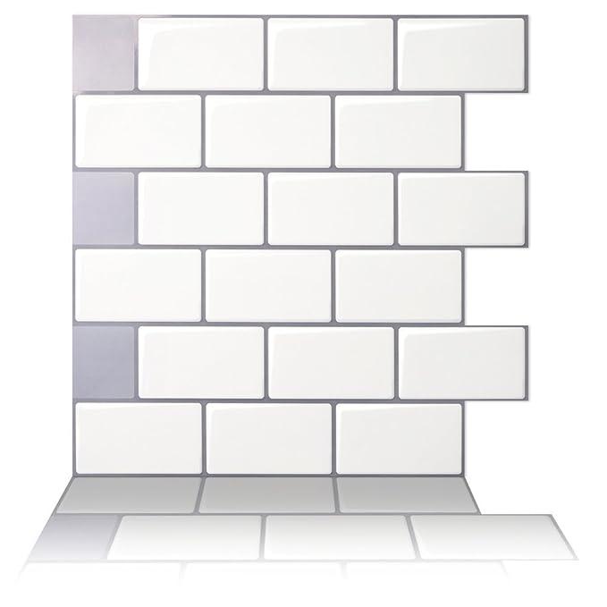Amazon Tic Tac Tiles Premium Anti Mold Peel And Stick Wall