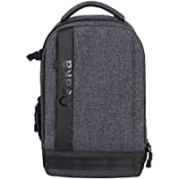 """Osaka Pro Series Waterproof DSLR Backpack Camera Bag with Laptop Compartment 15.6"""" for Lens Accessories Tripod monopod for Canon Sony Nikon Fujifilm Panasonic Lumix Cameras (Slate Gray)"""