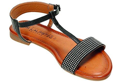 Schwarz Sandalen München Laufsteg Sandalette D x70qwU