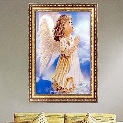 Doober Angel Girlダイヤモンド刺繍5d DIYペイントクロスステッチホームインテリア
