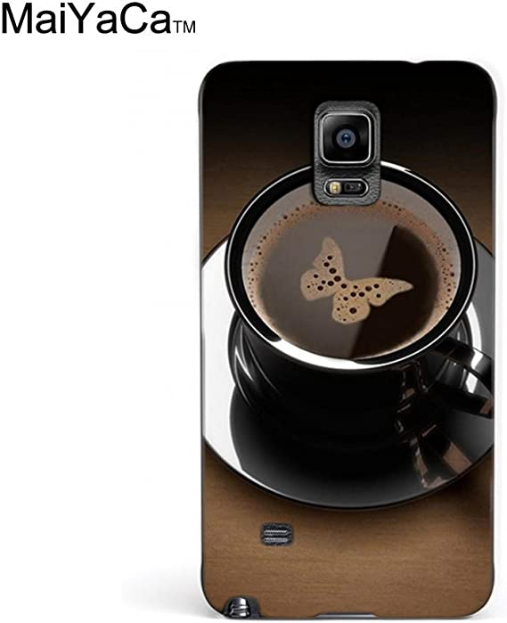 Amazon Com Maiyaca Tm M84769 Coffee Butterfly Black Cup Hd Wallpaper Phone Case For Samsung Galaxy Note4
