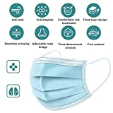 50Pcs Disposable Filter Mask 3 Ply Earloop Face