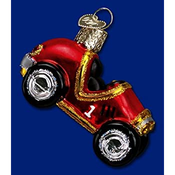 Amazon Com Old World Christmas Race Car Ornament Home
