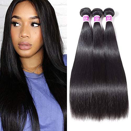 Colorful Queen Black Friday Deals 8A Brazilian Virgin Hair Straight Human Hair 3 Bundles Unprocessed Brazilian Hair Weave Bundles Remy Brazilian Straight Hair Extensions Natural Color 16 18 20 inch