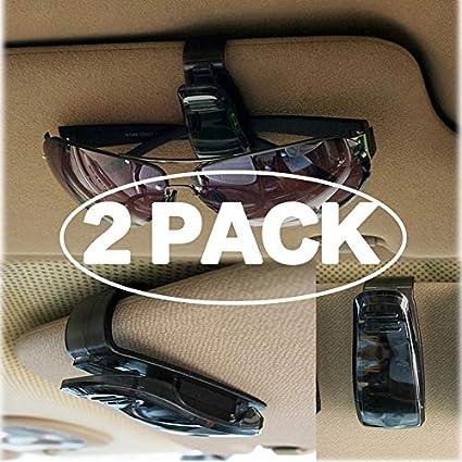 Car Vehicle Auto Sun Visor Eye Glasses Sunglasses Pen Card Mount Holder Black