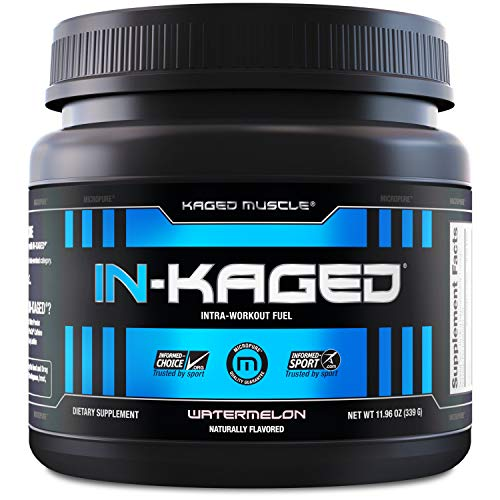 KAGED MUSCLE, IN-KAGED Intra Workout Powder, Intra-Workout Fuel, L-Citrulline, Boost Energy, Endurance & Muscle Pumps, Watermelon, 20 Servings