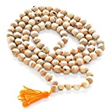 White Tulsi Japa Mala 108 + 1 Beads Best Quality Prayer Beads