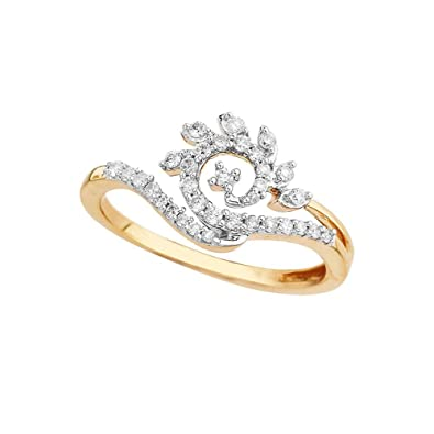 Buy D'Damas 18k Yellow Gold and Diamond Ring Online at Low