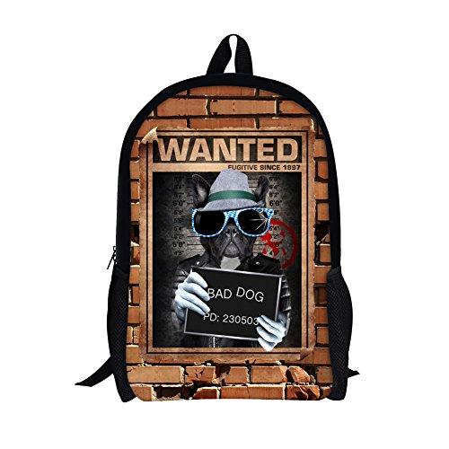 TOREEP Bad Boys Girls Creative Animal School Backpack Bookbag for - Frame For Latest Specs Girl