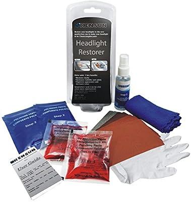 Kensun® Headlight Lens Restorer Kit with UV Protective Sealer