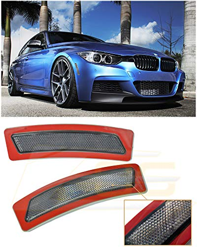 Extreme Online Store for 2012-2015 BMW F30 F31 3-Series M-Sport Bumper Model EOS Factory Style Crystal Smoke Front Bumper Fender Reflector Side Marker Lights Turn Signal Lamps