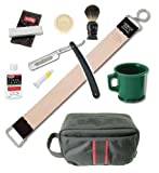 Dovo Straight Razor Soap Mug Brush Strop Paste 9 Pieces Shaving Set
