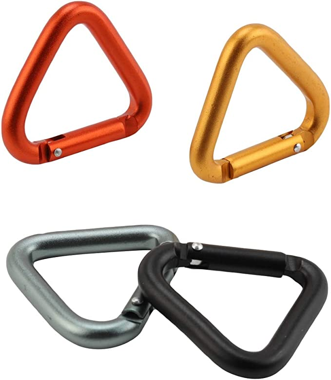 Blanchel Moschettone Triangolare Moschettone Multifunzione in Lega di Alluminio Moschettone da Campeggio con Clip da Esterno
