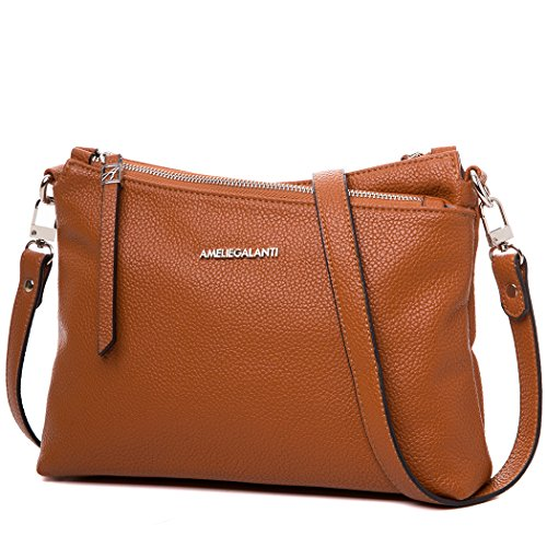 Crossbody Bags for Women, Purses and Handbags PU Leather Shoulder Bag Satchel with Adjustable Strap and Multi Pockets