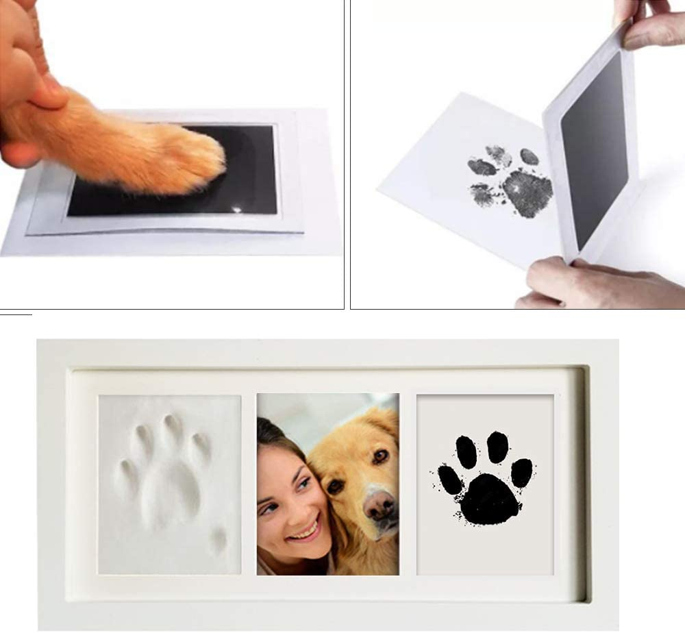black Unique Set for Registry feixia Baby Handprint Kit-Footprint Photo Frame Nursery Picture Frames Non-Toxic,Wooden Frame and Acrylic Glass,Casting /& Printing Kits White